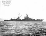 Indianapolis off the Mare Island Navy Yard, California, 9 Dec 1944, photo 2 of 2