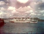 Hospital ship Tranquillity arrived at Guam with survivors of Indianapolis, 8 Aug 1945, photo 2 of 3