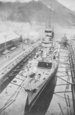 Ninghai undergoing overhaul, Harima, Japan, 1936