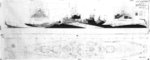 Drawing of Measure 32 Design 7A for Iowa-class battleships, 19 Jan 1944, page 2 of 2 (port-side view)