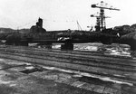 Kairyu-class submarine at a Japanese port, circa Oct-Dec 1945; copied from the US Naval Technical Mission to Japan Report S-01-7, Jan 1946, pg 130, fig 145