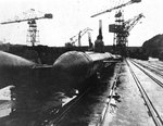 Kairyu-class submarine at a Japanese port, circa Oct-Dec 1945; copied from the US Naval Technical Mission to Japan Report S-01-7, Jan 1946, pg 134, fig 153