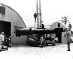 After half of a Kaiten Type 1 torpedo after recovery by US forces at Ulithi Atoll, Caroline Islands, Jan 1945