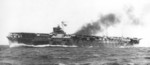Carrier Katsuragi during her trials off Kagoshima, Japan, Oct 1944