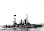 American battleship Mississippi, later to become Greek battleship Kilkis, probably off New York City, United States, 3 Oct 1911