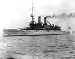 American battleship Mississippi, later to become Greek battleship Kilkis, soon after she was completed, 1908