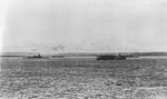 Japanese battleship Kirishima, carrier Kaga, and battleship Hiei at Hitokappu Bay, Etorofu, Kurile Islands, 23 Nov 1941