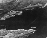 RAF reconnaissance photo showing Köln moored in the Fætten Fjord northeast of Trondheim, Norway, 19 Jul 1942, photo 3 of 3
