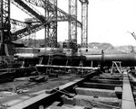 Koryu Type D submarine at the Yokosuka Naval Base, Japan, 8 Sep 1945, photo 2 of 3