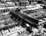 Koryu Type D submarine at the Yokosuka Naval Base, Japan, 8 Sep 1945, photo 3 of 3