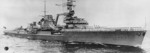 German light cruiser Leipzig with rails manned, circa 1936