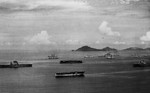 USS Lexington (left), USS Ranger (center), USS Langley (lower center), USS Saratoga (right), and other warships at anchor off Panama, 1936