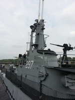 Conning tower of museum ship Ling, Hackensack, New Jersey, United States, 31 Aug 2013
