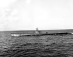 USS Macabi undergoing sea trials on Lake Michigan in the United States, Jul 1944