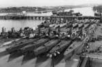 Inactivated submarines at Mare Island Naval Shipyard, California, United States, 3 Jan 1946
