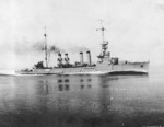 USS Marblehead underway during top speed trials, 15 Aug 1924