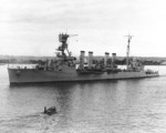 USS Marblehead underway in San Diego harbor, California, United States, 10 Jan 1935