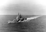 USS Miami underway, 27 Apr 1944
