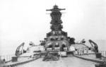 View of Musashi from her bow, circa 1942