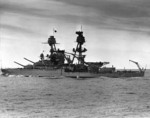 Nevada at sea during the later 1930s