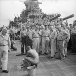 Public humiliation of Japanese prisoners of war aboard USS New Jersey, Dec 1944, photo 6 of 6