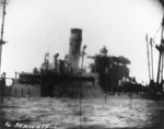 A Japanese ship sinking, seen from USS Seawolf