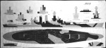 Plan for camouflage Measure 32v6 Design 10D for USS North Carolina, circa 1943, 1 of 2; this design would remain unused