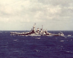 USS North Carolina off Saipan, Mariana Islands, mid- to late-Jun 1944