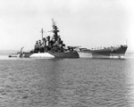 USS North Carolina anchored off Puget Sound Navy Yard, Washington, United States, 24 Sep 1944, photo 1 of 3