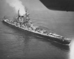 USS North Carolina off New York, New York, United States, 3 Jun 1946, photo 2 of 3; photograph taken by an aircraft from Naval Air Station, New York