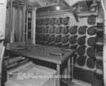 20mm ready service and clipping room on the main deck of USS North Carolina, New York Navy Yard, Brooklyn, New York, United States, 19 Feb 1942