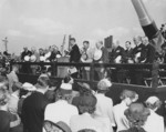 Launching ceremony of North Carolina, New York Navy Yard, Brooklyn, New York, United States, 13 Jun 1940, photo 2 of 4