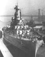 Battleship North Carolina at New York Navy Yard, Brooklyn, New York, United States, 1941