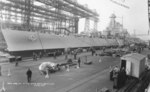 North Carolina fitting out at New York Navy Yard, Brooklyn, New York, United States, 17 Apr 1941, photo 1 of 2