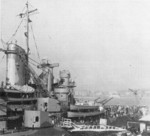 View of the superstructure of North Carolina, circa mid-1941