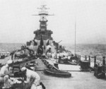 View aboard USS North Carolina during trials, 22-31 Aug 1941
