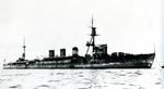 Light cruiser Oi off Kure, Japan, 1923