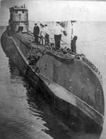 Polish submarine Orzel in port