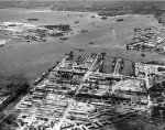 Aerial view of Pearl Harbor Naval Shipyard, US Territory of Hawaii, 28 Jul 1942