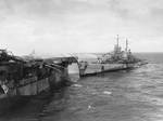 Reno attempted to fight fires aboard Princeton, 24 Oct 1944, photo 1 of 3