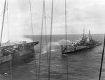 Reno attempted to fight fires aboard Princeton, 24 Oct 1944, photo 2 of 3