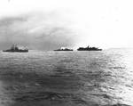 Birmingham and a destroyer pulled away from Princeton after the CVL exploded, 24 Oct 1944
