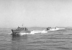 PT boats conducting training operations in Narragansett Bay, Rhode Island, United States, circa 1941-1945