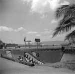 USS Puffer at US Territory of Hawaii, circa 1940s; note shark mouth painting