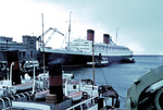 RMS Queen Elizabeth at Cherbourg, France, Jul 1966, photo 2 of 2