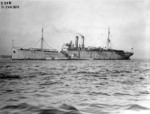 Submarine tender USS Camden and submarine USS R-1, 21 Jan 1920