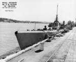 USS Tambor, USS Ray, USS Greenling, USS Cero (barely visible), and USS Raton (barely visible) at Mare Island Naval Shipyard, Vallejo, California, United States, 24 Feb 1945