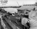USS Raton at Mare Island Naval Shipyard, Vallejo, California, United States, 12 Mar 1945; note USS Ray in background