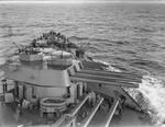 View of the forward section of HMS Rodney, 1940