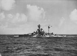 HMS Royal Sovereign underway in the Indian Ocean, 1942-1943